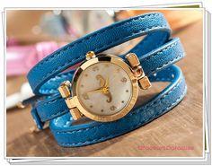 Watch, Fashion, Girls watch, three ring bracelet watches, moustache, Quartz watches,   W-113