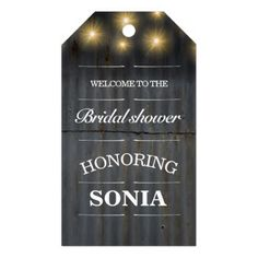 Barn Country Rustic Iron Wedding Gift Tags - bridal shower gifts ideas wedding bride