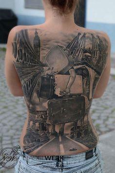 Full back tattoo - 100 Awesome Back Tattoo Ideas  <3 <3