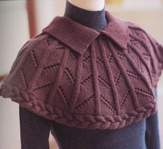 Shoulder cape Free Knitting Patterns