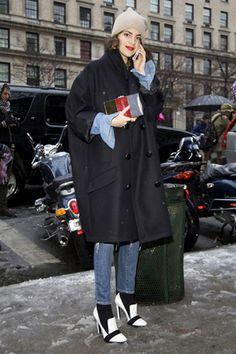 速報! 2013-14年秋冬NYコレクション会場スナップPart1。(3)|ファッション(流行・モード もっと見る