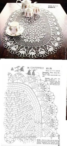 This Pin was discovered by Ελέ Crochet Doily Diagram, Crochet Doily Patterns, Lace Patterns, Crochet Chart, Thread Crochet, Filet Crochet, Irish Crochet, Crochet Motif, Crochet Designs