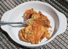 Pumpkin Bread Pudding with Caramel Rum Sauce