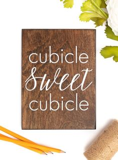 Cubicle Sweet Cubicle Decor, Cubicle Wall Decor, Cubicle Decoration, Cubicle Sweet Cubicle Sign, Cubicle Wood Sign, Cubicle Office Sign