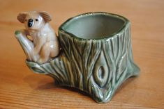 Vintage Wade koala Egg Cup - Whimsie by SJMArtCollectables on Etsy