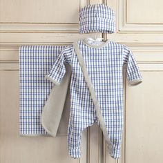 Oilo Organic Newborn 3 Piece Layette Set Little Boy Blue- Take home outfit?