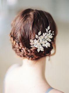 Hair comb with metal leaves/Wedding hair accessories/Silver leaf Headpiece/Bridal hairclip opal/For winter bride/Floral hair piece vintage Bridal Comb, Hair Comb Wedding, Wedding Hair Pieces, Bridal Headpieces, Bridal Braids, Wedding Hair Accessories, Wedding Hairstyles, Inspiration, Natural Beauty