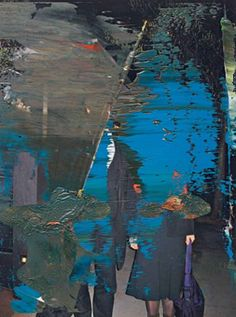 Gerhard Richter Blue Overpainting