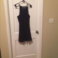 Navy dress Very cute navy dress. Only worn once. Elle Dresses Midi
