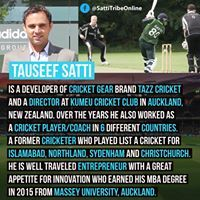 Tauseef Tazz Satti Is A Developer Of Cricket Gear Brand Tazz Cricket And A Director Of Cricket At Kumeu Cricket Club In Cricket Club Auckland Over The Years