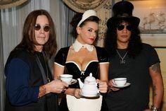 Ozzy Osbourne Photos Photos - Ozzy Osbourne And Slash Enjoy Tea At The Dorchester Hotel - Zimbio