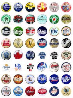 Beer bottle tops