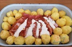 Nejchutnější maso s bramborami pečené vcelku - tajemství se skrývá v marinádě. | NejRecept.cz Food And Drink, Drinks, Cooking, Drinking, Beverages, Kochen, Drink, Beverage, Brewing