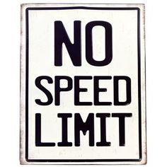 No Speed Limit Embossed Tin Sign⎜Open Road Brands