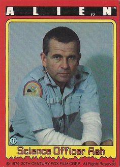 "#11 ""Science Officer Ash"" --  ALIEN trading cards (1979, Topps)"
