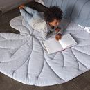 These softly quilted leaves are handmade of organic linen in the brand's atelier in Vienna. Each piece is done individually and without an exact pattern which m