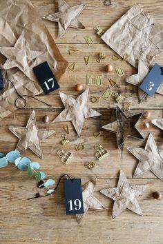 Advent Calendar Ideas - Brown Paper Stars