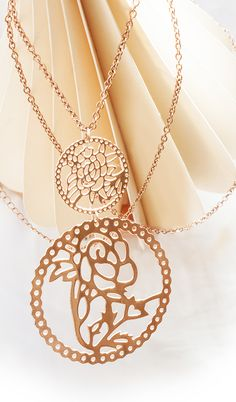 NEWONE-SHOP.COM I #rosegold #necklace