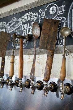 beer taps at Yardbird Southern Table & Bar, in Miami, Florida.