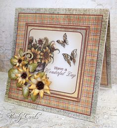 Card made using Heartfelt Creations Classic Sunflower Collection, by Liz Walker