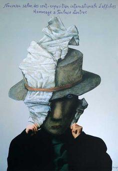 Stasys Eidrigevicius, Hommage a Toulouse-Lautrec, 2001 Polish Films, Pop Art, Polish Posters, Graphic Design Brochure, Art Academy, Picture On Wood, Illustrations And Posters, Art Design, Toulouse