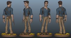 Nathan Drake (stylized) wip for printout... by Richard Clark | Cartoon | 3D | CGSociety