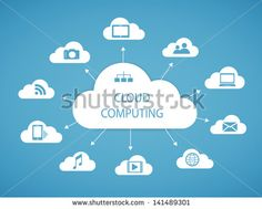 Cloud computing technology abstract scheme eps10 vector illustration - stock vector