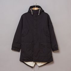 Universal Works Mil Parka in Twill Navy from Oi Polloi UK.