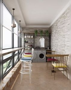 Stylish Laundry Room Design Ideas To Inspire 3d Home Design, Small House Interior Design, Home Room Design, Laundry Room Design, Balcony Design, Küchen Design, Modern House Design, Design Ideas, Home Decor Furniture