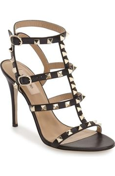 Valentino 'Rockstud' Ankle Strap Sandal (Women) available at #Nordstrom
