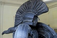 Home Used Tires, Describe Me, Sculptures