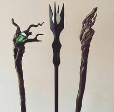 Staff wizards...Saruman, Gandalf & Radagast