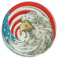 American eagle 3 machine embroidery design. Machine embroidery design. www.embroideres.com