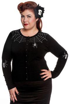 Domino Dollhouse - Plus Size Clothing: Spider Cardigan