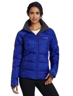 Columbia Women's Madraune Down Jacket, Light Grape, X-Large. Omni-Heat Thermal Reflective. 550 fill power down insulation. Comfort Thumb holes.