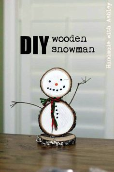 How to make a DIY Wooden Snowman using wood slices and paint. Only takes about 30 minutes to make! Half-Hour Holiday Challenge How to make a DIY Wooden Snowman using wood slices and paint. Only takes about 30 minutes to make! Wooden Christmas Decorations, Christmas Wood Crafts, Diy Christmas Ornaments, Christmas Fun, Holiday Crafts, Christmas Projects, Holiday Decor, Wooden Ornaments, Country Christmas