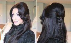 Braided Half-Up Half-Down Hairstyle