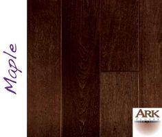 Maple Prefinished Engineered Hand Scraped hardwood floors by ARK Floors.  Finish Shown: KAHLUA  www.shop4floors.com