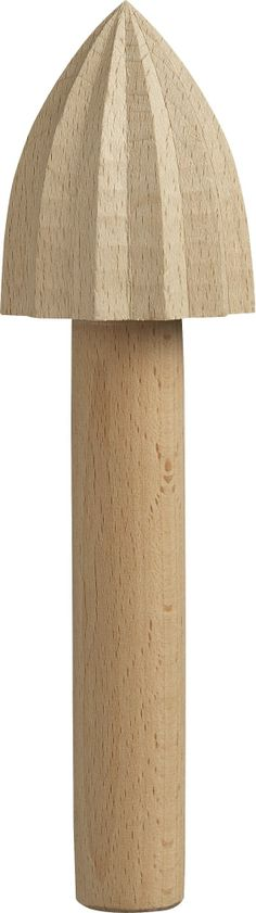 Wood Citrus Reamer    Crate and Barrel