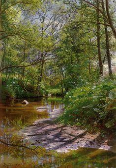 Peder Mork Monsted (Peder Mork Mønsted) (1859-1941) A River Landscape Oil on…