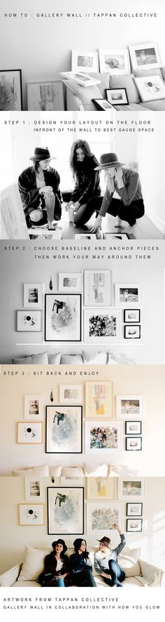 Tappan Collective gives a quick tutorial on How To build a beautiful gallery wall.:
