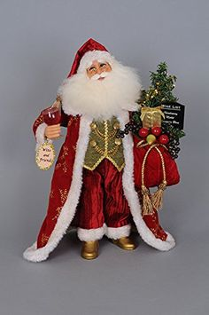 Karen Didion Originals - Lighted Wine and Friends Santa - Wooden Duck Shop Luxury Christmas Tree, White Christmas, Father Christmas, Christmas Crafts, Christmas Ornaments, Fall Arts And Crafts, Santa Decorations, Santa Doll, Christmas Scenes