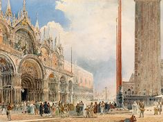 Rudolf von Alt (1812 - 1905), St. Mark's Square in Venice