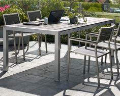 Aluminiowy stół prostokątny 210x104 Bellac - Aluminiowe stoły ogrodowe - Ogrodowy Salon