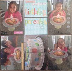 Birthday pancakes scrapbook layout
