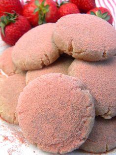 Raw Vegan Strawberry Sugar Cookies
