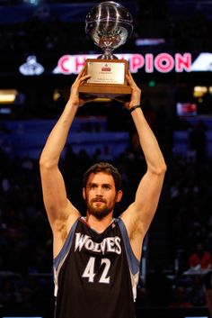 It started with Kevin Love winning the 3-point contest, and the night ended with Derrick Williams shining in the dunk contest.    Finally, on Sunday K-Love played in the NBA All-Star Game as a power forward for the Western Conference. He dropped 17 points to go along with seven boards.