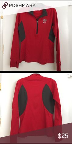 Under Armour University of Utah Coldgear Jacket Under Armour University of Utah Semi-Fitted Coldgear half zip jacket! Lightly worn with thumb holes. Under Armour Jackets & Coats Utility Jackets