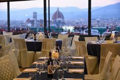 Historical restaurant with view of Florence