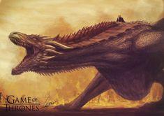 Drogon from Game of Thrones  by AbangGajan.deviantart.com on @DeviantArt